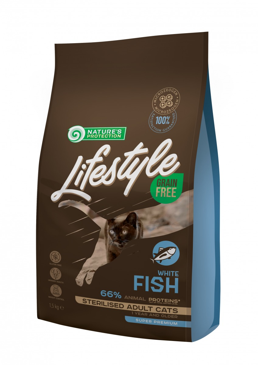 LIFESTYLE GRAIN FREE STERILISED WHITE FISH ADULT CAT