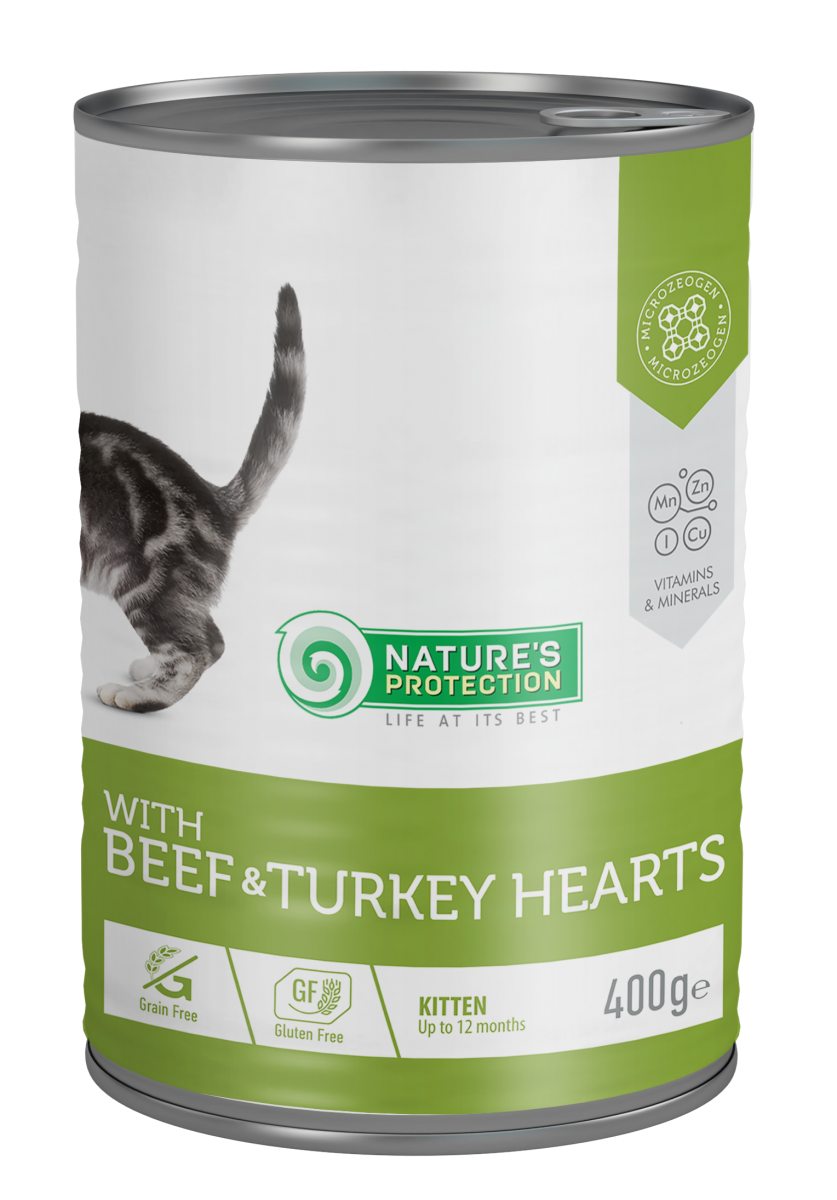 KITTENS BEEF & TURKEY HEARTS