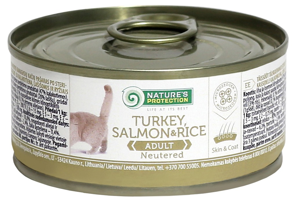 NEUTERED TURKEY, SALMON & RICE