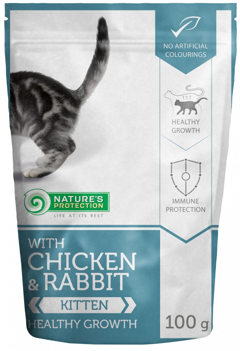 WITH CHICKEN & RABBIT KITTEN HEALTHY GROWTH